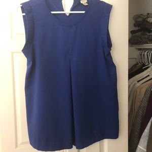 J. Crew sleeveless royal blue blouse size 4